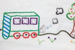 Дизайны вышивки младенца Стоковое Фото
