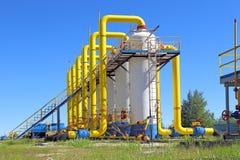 Дизайны газопровода в солнечном дне Стоковое Изображение