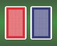 Дизайны задней части играя карточки иллюстрация штока