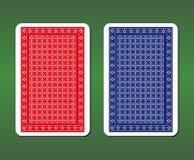 Дизайны задней части играя карточки иллюстрация вектора