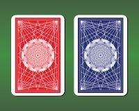 Дизайны задней части играя карточки бесплатная иллюстрация