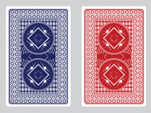 Дизайны задней части играя карточки Стоковое Фото