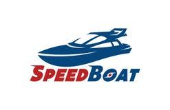 Дизайны логотипа шлюпки скорости иллюстрация штока