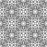 Дизайны повторения вектора черные белые Стоковое Фото