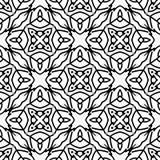 Дизайны повторения вектора черные белые Стоковое Изображение RF