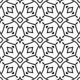 Дизайны повторения вектора черные белые Стоковое фото RF