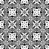 Дизайны повторения вектора черные белые Стоковые Изображения RF