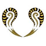 Дизайны татуировки племенные маорийские Стоковое фото RF