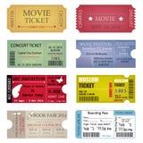 Дизайны шаблона билета Стоковое Изображение