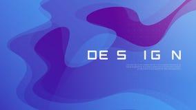 Дизайн абстрактного градиента геометрический, красочный волнистый минималистский bac Стоковое Изображение