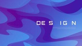 Дизайн абстрактного градиента геометрический, красочный волнистый минималистский bac Стоковая Фотография