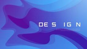 Дизайн абстрактного градиента геометрический, красочный волнистый минималистский bac Стоковые Фотографии RF