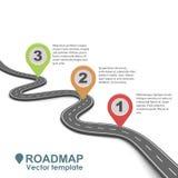 Дизайн абстрактной дорожной карты дела infographic иллюстрация вектора