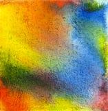 Дизайн акварели текстурированный чернилами Стоковое Изображение