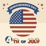Дизайн американского Дня независимости плоский Стоковая Фотография RF