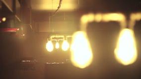 Дизайн лампы накаливания, яркий блеск видеоматериал
