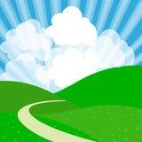 Дизайн ландшафта с горами Стоковое Изображение