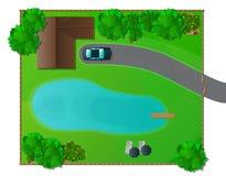 Дизайн ландшафта Стоковые Фото