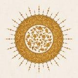 Дизайн арабескы вектора с флористическим дизайном и арабской картиной дизайн для печати, интерьера, плитки Стоковые Изображения RF