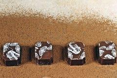 Дизайн бабочки Бельгии молочного шоколада Стоковое Изображение RF