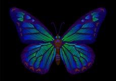 Дизайн бабочки вышивки для одежды украшение вектора насекомого бесплатная иллюстрация