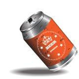 Дизайн банки пива Стоковое Изображение