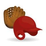 Дизайн бейсбола, спорт и иллюстрация поставек Стоковое Изображение