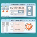 Дизайн билета баскетбола современный Стоковое Фото