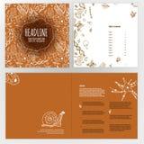 Дизайн брошюры биологии Стоковая Фотография