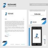 Дизайн брошюры компании с вектором дизайна логотипа z бесплатная иллюстрация