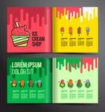 Дизайн брошюры мороженого иллюстрация вектора