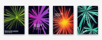 Дизайн брошюры с ультрамодными неоновыми градиентами также вектор иллюстрации притяжки corel Стоковые Фото