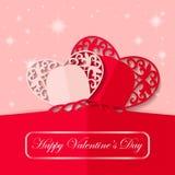 Дизайн бумаги дня валентинки, иллюстрация Стоковое фото RF