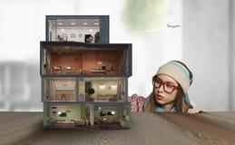 Дизайн вашего дома мечты Мультимедиа Мультимедиа Стоковые Изображения RF