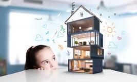 Дизайн вашего дома мечты Мультимедиа Стоковое Фото