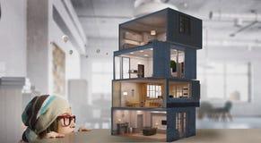 Дизайн вашего дома мечты Мультимедиа Стоковые Изображения RF