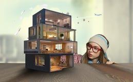 Дизайн вашего дома мечты Мультимедиа Стоковое фото RF
