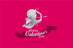Дизайн валентинки купидона соответствующая польза для свадьбы и других логотипа Стоковые Изображения RF