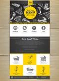 Дизайн вебсайта концепции меню фаст-фуда Стоковая Фотография RF