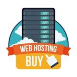 Дизайн веб - хостинга бесплатная иллюстрация