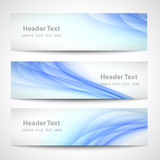 Дизайн вектора абстрактной волны заголовка голубой белый Стоковое Фото