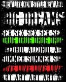 Дизайн вектора винтажной футболки человека лозунга графический Стоковое Изображение RF