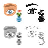Дизайн вектора глаза и плохого логотипа Собрание глаза и иллюстрации вектора запаса слепоты иллюстрация вектора