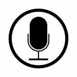 Дизайн вектора знака микрофона Стоковая Фотография RF