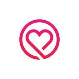 Дизайн вектора значка абстрактного знака логотипа влюбленности minimalistic Стоковые Фотографии RF