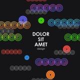 Дизайн вектора красочный для вашей идеи Динамические круги иллюстрация вектора
