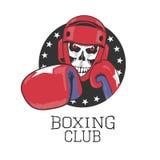 Дизайн вектора клуба бокса, знак, логотип, ярлык иллюстрация вектора