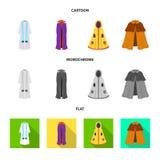 Дизайн вектора логотипа материала и одежды o иллюстрация штока