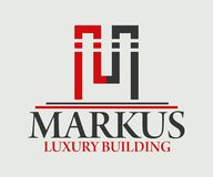Дизайн вектора логотипа недвижимости, здания, конструкции и архитектуры Стоковое Изображение