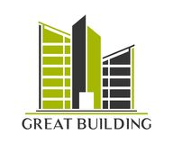 Дизайн вектора логотипа недвижимости, здания, конструкции и архитектуры Стоковое Фото